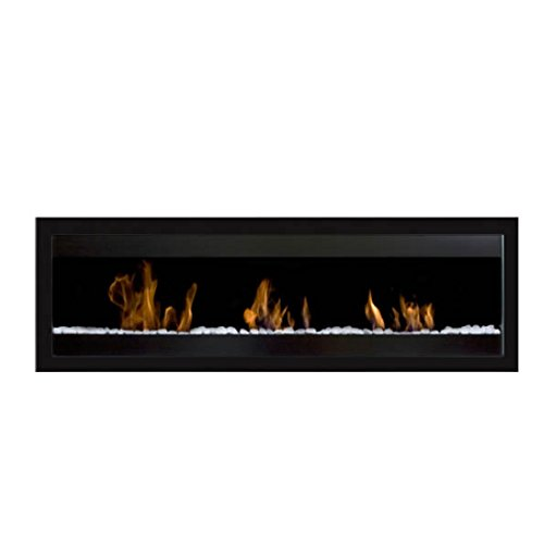 Bio Ethanol Fireplace Square XL 3 Burners Black Bio-Blaze