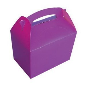 Assorted Colours Kids Party Lunch Boxes, pack of 10 by Party Bags 2 Go