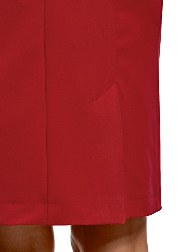 oodji Collection Donna Gonna Basic Dritta Rosso (4500N)
