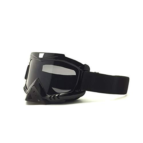DOLOVE Herren Damen Skibrille Sportbrille Retro Schutzbrille Winddicht Schutzbrille Brillenträger Herren und Damen Schwarz Braun