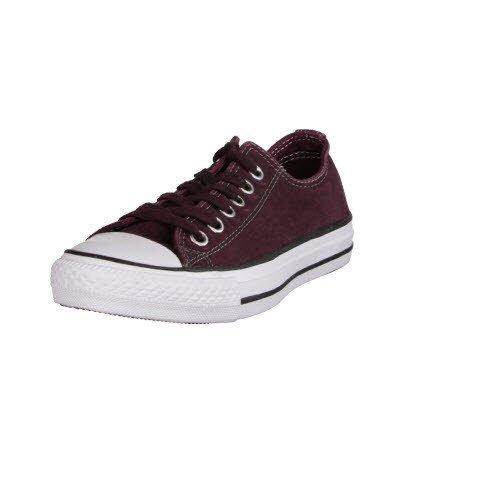 Converse Chuck Taylor All Stars OX Shoes Black Wash Deep Bordeaux Black White