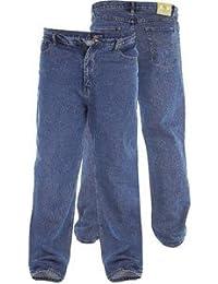 Duke Rockford RJ510 Confort Hommes Jeans Délavé - Bleu délavé-, Homme, Taille 102cm x longueur 76cm