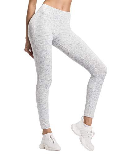 Weiße Streifen Leggings (QUEENIEKE Damen Power Flex Yoga Hosen Training Laufende Leggings Farbe Weiße Streifen Größe XS(0/2))