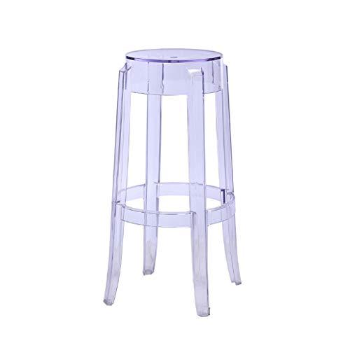 Hlj sgabello di plastica creativo sedia da pranzo trasparente sgabello da bar sgabello sedia da casa sgabello alto creativo (size : m:37 * 37 * 75cm)