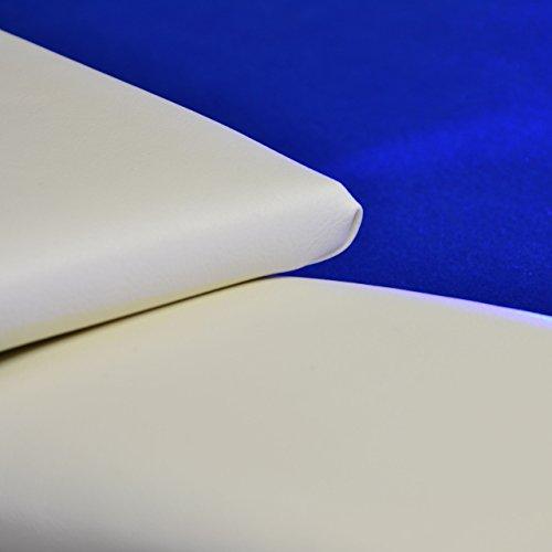 Nexos Pokertisch massiv Casinotisch aus Holz für Poker mit blauem Filzbezug weißen Armlehnen und LED Beleuchtung für 10 Spieler 213 x 105 cm - 8