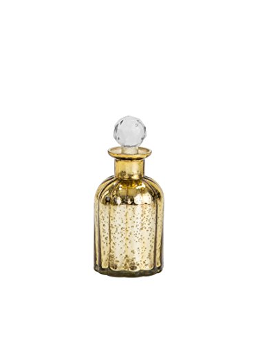 Sammsara Harvey Table Top Gold Glass Decorative Bottle For Table,living Room,office,Interior.Glass Bottles For Decoration(8 Inches)