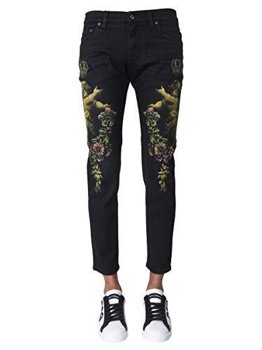 DOLCE E GABBANA Luxury Fashion Herren GYC4LDG8BN4S9001 Schwarz Jeans | Herbst Winter 19 (Gabbana Männer Dolce Jeans)