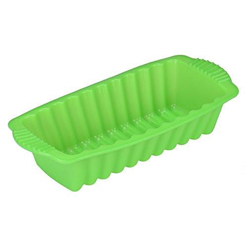 Fan-Ling - Stampo rettangolare in silicone resistente al calore, per torte, antiaderente, per pane, pane, torte, teglie da forno, non tossico