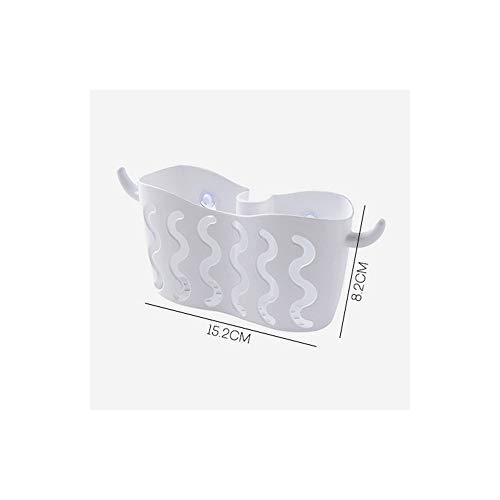HIOWFK Kunststoff Lagerung Hängenden Korb Halter Kitchen Sink Organizer Schwämme Seifen Wäscher Multifunktionale Sucker Drain Rack