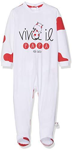 Chicco tutina con apertura sul patello tutina, unisex - bimbi 0-24, rosso (bianco e rosso 037), neonato (taglia produttore:044)