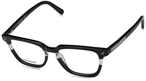 Dsquared2 dq5226, occhiali da sole unisex-adulto, (nero/cristallo), 51.0