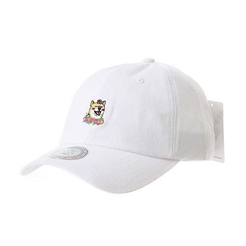 26fbd9d867a WITHMOONS Casquette de Baseball Baseball Cap Dog Embroidery Shiba Inu Doge  Hachi-ko AL1896 (