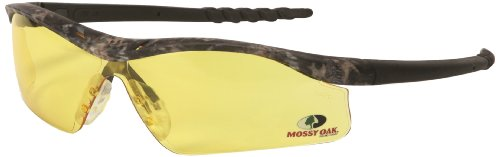 MCR Safety MODL114 Mossy Oak Single Lens Glasses with Dallas Camo Frame and Amber Lens by MCR Safety - 2