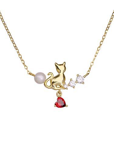 Laylae argento ciondolo collana in argento 925 catenella catenina rubino cristallo amore stella cometa collana regalo di nicchia
