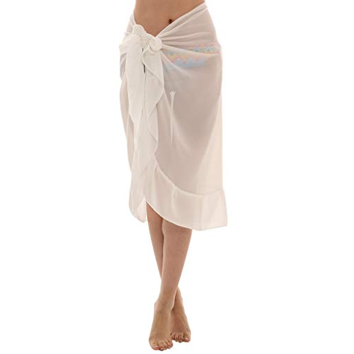 ⛱wqianghzi sexy bikini donna cover up eleganti scialle in chiffon trasparente sciarpe da spiaggia mini mantello tinta unita poncho protezione solare costume estate per feste copricostumi e parei
