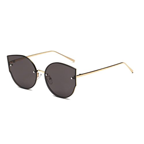 Holeider 2018 Neue Sonnenbrille Damen Schwarz, Womens Farben Vintage Cat Eye Spiegel Stilvolle Marke Retro Klassische Sonnenbrille (Grau)