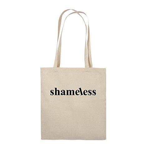 Comedy Bags - shameless - LOGO - Jutebeutel - lange Henkel - 38x42cm - Farbe: Schwarz / Pink Natural / Schwarz