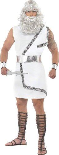 Kostüm Gott Zeus - KULTFAKTOR GmbH Zeus Antike Kostüm Gott Weiss-Silber M