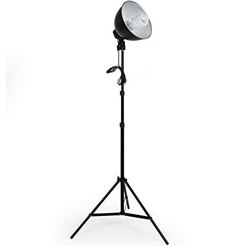 TecTake® 2 x Profi Fotostudio Studioleuchte inkl. Leuchtmittel und Stative