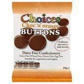 Celtic Choc N Orange Buttons 25 G
