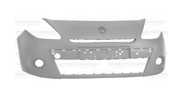 RENAULT CLIO 2009/>2012 Front Bumper Primed With Hole For 15In Wheel Model