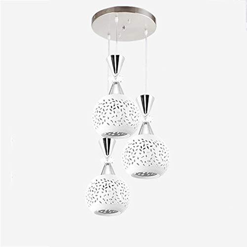 Moderno Cerámica Blanca Lámpara Colgando Forma De Tallado Hueco Esfera Sombra Lámpara Colgante Dormitorio Sala De Estar Cocina Colgante Luz Minimalista Personalidad Lámpara Colgante