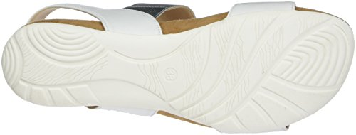 Caprice 28604, Sandales Bout Ouvert Femme Blanc (White Na.multi)