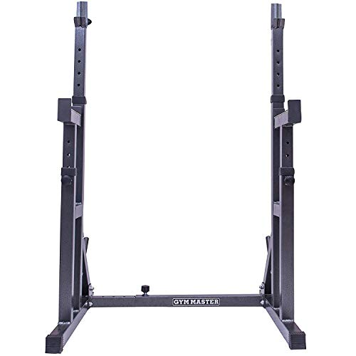 GYM-MASTER-Fully-Adjustable-Heavy-Duty-Squat-Rack-Stand-With-Dip-Bars