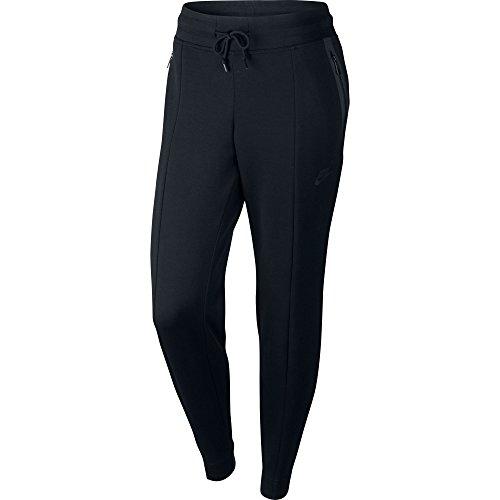 Nike Nsw Tch W Flc Pant Knt-short pour femme Noir/Noir/Noir
