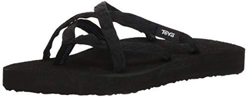 Sommer Thong Sandal (Teva Olowahu W's Damen Sport- & Outdoor Sandalen, Schwarz (mix B on Black 536), EU 42)