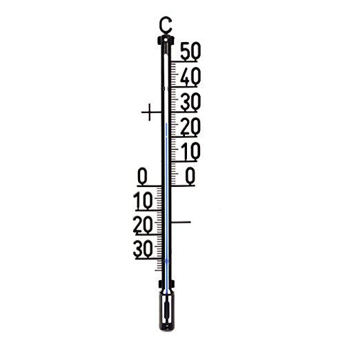 35 cm Außen - Garten - Analog - Kunststoff Thermometer . Aussenthermometer Temperaturanzeige von -30 bis + 50 °C