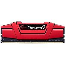 gskill F4–2800C15S de 16gvr Ripjaws V Memoria DDR3-RAM de 16GB (D42800C15, 1,35V) Rojo