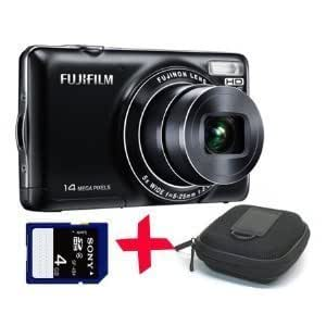 "Fuji JX370 black Digital Camera +4GB + Hard Case (Fujifilm Finepix 14MP 5x Optical Zoom 2.7"" LCD)"