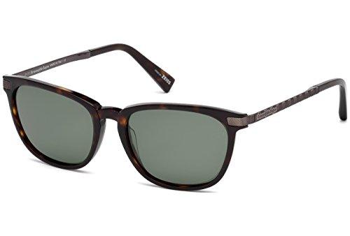 Ermenegildo Zegna EZ0039 C54 52R (dark havana / green polarized) Polarisierende Sonnenbrillen