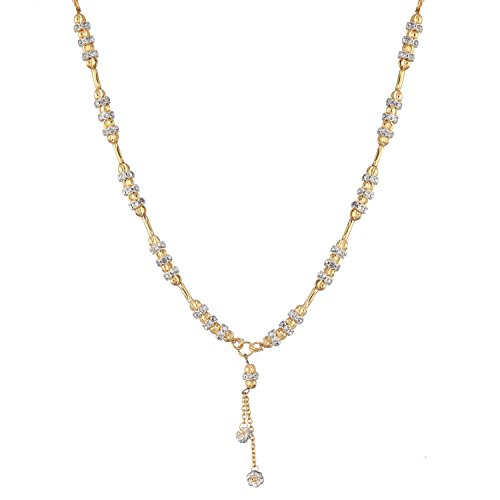 Zeneme Women's Pride American Diamond Gold Plated Mangalsutra Pendant with Chain for Women