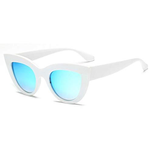 WZYMNTYJ Vintage Sonnenbrille Frauen Cat Eye Sonnenbrille Retro Sonnenbrille Weibliche Rosa Spiegel Eyewear