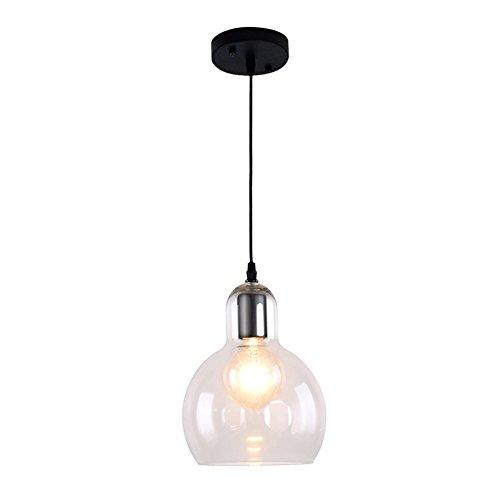 E27 Industrielle Pendelleuchte Pendellampe Hängeleuchte Hängelampe Pendel Leuchte Esstisch Beleuchtung Modern Einfach Glass Lampenschirm Hemisphärisch Ø18×H23cm Innen Lampe MAX40W 220~240V