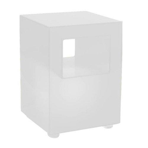 Tomasucci Galaxy Pouff/Tavolino Luminoso, Metacrilato, Bianco Opaco