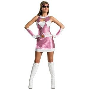 Kostüm Pink Crazy - Disguise Pink Power Ranger Kostüm sexy womens Halloween, Large