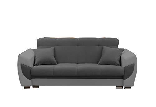 mb-moebel Modernes Sofa Schlafsofa Kippsofa mit Schlaffunktion Klappsofa Bettfunktion mit Bettkasten Couchgarnitur Couch Sofagarnitur 3er Amelia