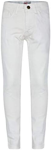 A2Z 4 Kids Bambini Ragazze Skinny Jeans Bianco Progettista Denim Elastico Pantaloni Moda Fit Pantaloni Nuova E