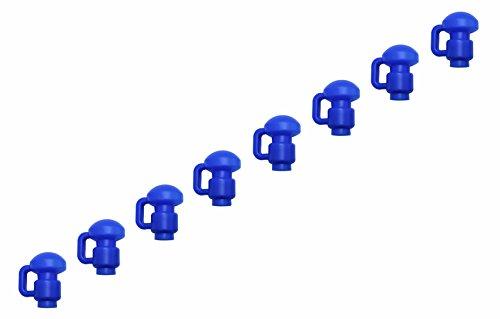 Upper-Bounce-Trampolin-Stangen-kappen-8er-Set-mit-C-Haken-zum-fixieren-von-Trampolin-Netzen-Blau