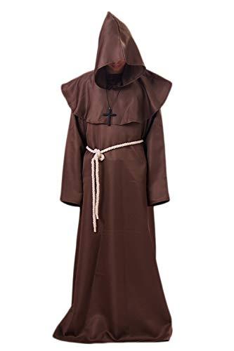 istent Priester Roben Hoodies Cosplay Mitte Alter Halloween Kostüme Kaffee L ()