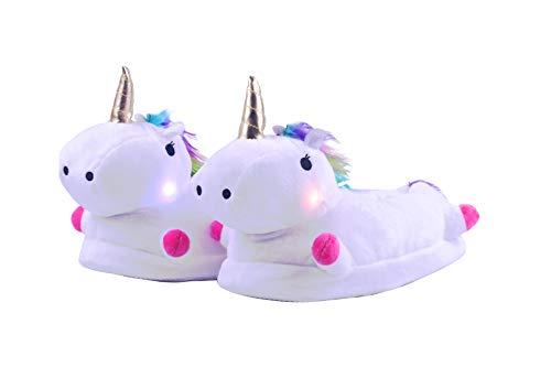 Zapatillas Estar Casa Mujer Niños Unicornio Felpa