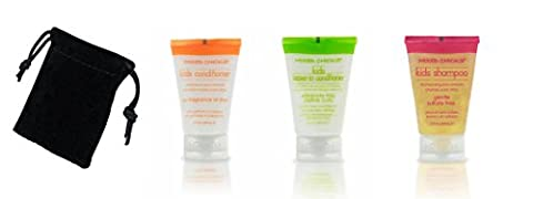 Mixed Chicks Kids Travel Trio Set With A Velvet-look Drawstring Pouch (1 x Shampoo, 1 x Conditioner, 1 x Leave-in)
