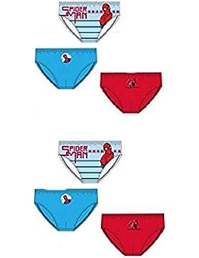 Pack de 6 slips diseño SPIDERMAN (MARVEL) (3 diseños diferentes) tallas 2/3, 4/5 y 6/8 años