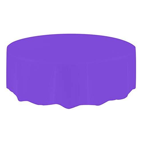 -Tischdecken, Einweg-Party-Tischdecken, Picknick-Party-Dekoration, Plastik, violett, 210 * 210CM ()