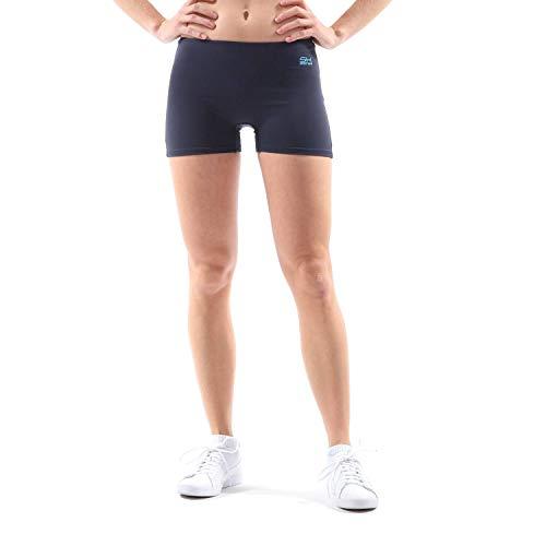 Sportkind Mädchen & Damen Tennis, Volleyball, Sport Shorts, Navy blau, Gr. L - Mädchen Damen Bekleidung