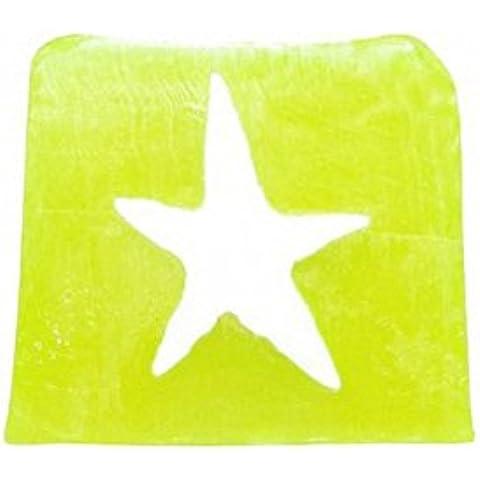 Stella luminosa di sapone - 115 G fetta (lime). Fragranza: