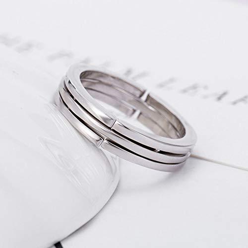 Leobtain Einfacher Ring Kreis Finger Hoop Teleskop mit Kette Mode Verstellbare Ringe für Frauen Dame Paar (Kopf Traktion)